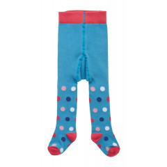 Piccalilly Organic Cotton Blue Girls Spot Tights