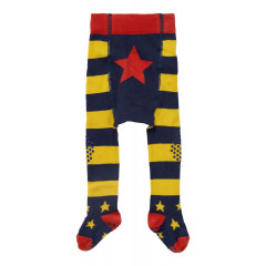 Piccalilly Baby Crawler Tights - Blue & Yellow