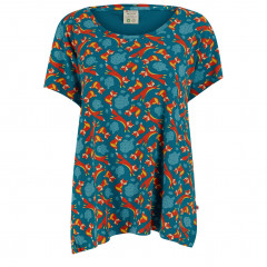 Upcycled Adult T-Shirt - Foxes