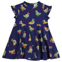 Upcycled Skater Dress - Duck