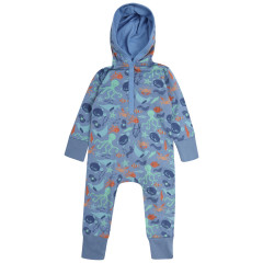 Upcycled Hooded Sleepsuit - Save Our Seas