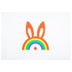 Piccalilly Rainbow Bunny Pillowcase