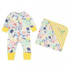 Underwater Romper & Baby Blanket Set