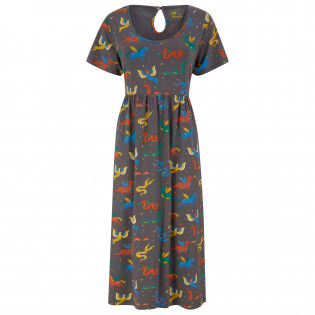 Upcycled Women's Midi Dress - Mythical Creatures