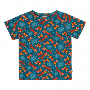 Upcycled Kids All Over Print T-Shirt - Foxes