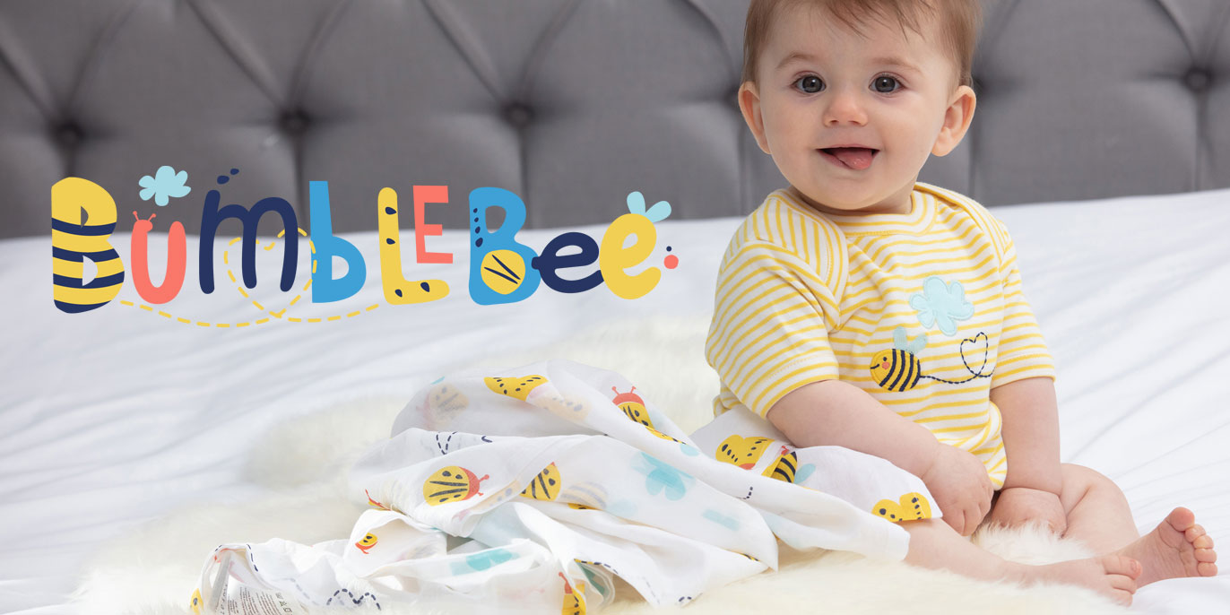 Piccalilly Organic Cotton Bumble Bee Range