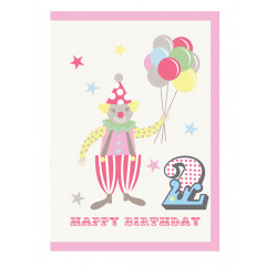 Piccalilly Multi-coloured Happy 2nd Birthday Card Boy or Girl