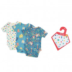 Rainforest Bodysuits & Muslin Bandana Bib Set