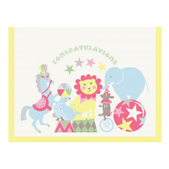 Piccalilly New Baby Congratulations Greeting Card Boy or Girl Fairground Theme