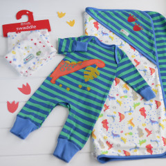 Piccalilly Hungry Dinosaur Playsuit Set