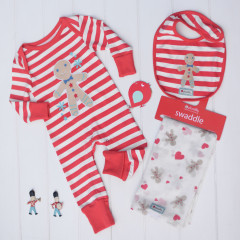 Piccalilly Organic Cotton Christmas Gingerbread Gift Set