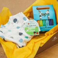 Baby Gift Box - Sleepsuit & Mini Chocolate Library