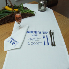 Personalised Table Runner & Napkin Set