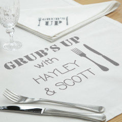Personalised Family Table Cloth & Napkin Linen Set