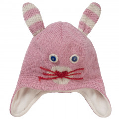 Knit Hat - Pink Bunny