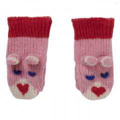 Piccalilly Pink Bunny Knit Mittens