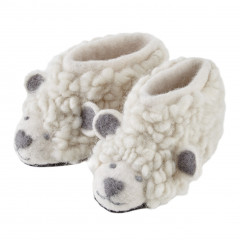 Piccalilly Wool Felt Sheep Slippers