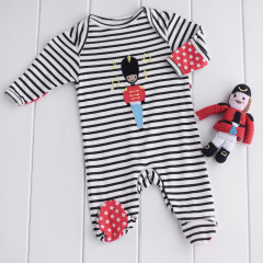 Piccalilly organic Cotton Sleepsuit & Toy Set