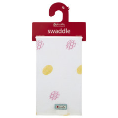 Piccalilly Organic Cotton Daisy Spot Muslin Swaddle