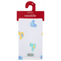 Piccalilly Organic Cotton Toy Duck Muslin Swaddle