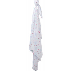 Piccalilly Organic Cotton Unisex Christmas Snowflake Muslin Swaddle Blanket Extra Large