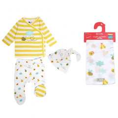 Bumblebee Three Piece Outfit & Muslin Set