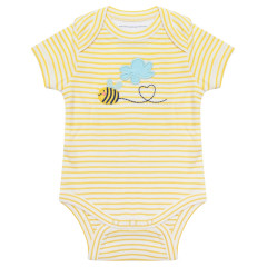 Piccalilly bee baby bodysuit