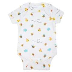Piccalilly Bumblebee Baby Bodysuit