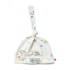Piccalilly Organic Cotton Little Fish Knotted Hat