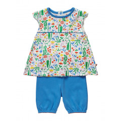 Piccalilly Organic Cotton Summer Meadow Baby Set