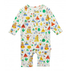 Piccalilly Organic Cotton Unisex Footless Romper