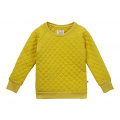 Quilted Sweatshirt - Mustard