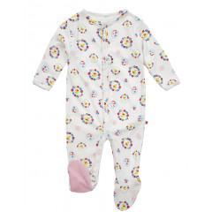 Footed Sleepsuit - Nursery Floral