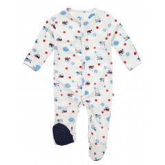 Piccalilly Footed Sleepsuit - Steam Train