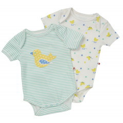 Piccalilly Pack of Unisex Baby Bodysuits