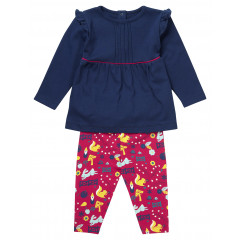 Piccalilly organic Cotton Enchanted Forest Two Piece Outfit