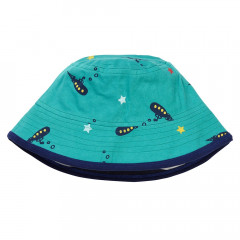 Teal Blue Submarine Kids Sun Hat