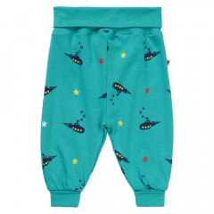 Kids Blue Organic Pull-On Trousers