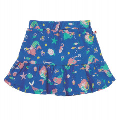 Piccalilly Blue Organic Cotton Mermaid Skirt