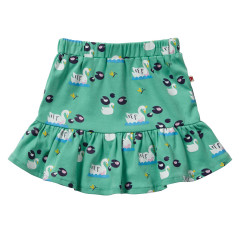 Piccalilly Green Girls Jersey Cotton Skirt