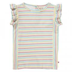 Girls Short Sleeve Ruffle Vest Top