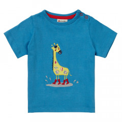 Turquoise Blue Giraffe T-Shirt for Kids