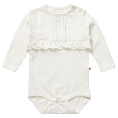 Piccalilly Plain Cream Baby Bodysuit