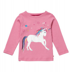 Piccalilly Pink Girls Unicorn Top