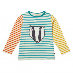 Piccalilly Cool Animal Applique Kids Top