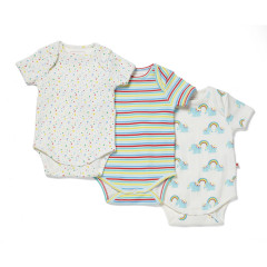 Baby Bodysuit Pack of 3 - Rainbow