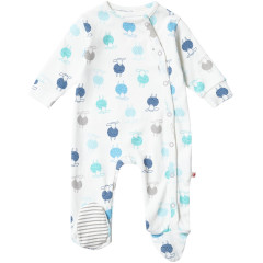 Unisex Sheep Themed Footed Sleepsuit