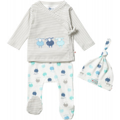 Sheep Themed Blue and White Baby Gift Set