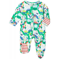 Unisex Farm Themed Multicoloured Footed Sleepsuit