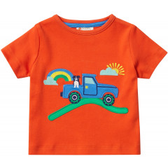 Unisex Orange Defender Truck Short Sleeve T-Shirt